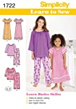 Simplicity 1722 Learn to Sew Girl's Pajama Sewing