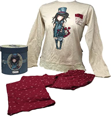 Aznar Gorjuss The Hatter – Pijama de dos piezas con caja de regalo – Niña/Adulto, varios tamaños disponibles