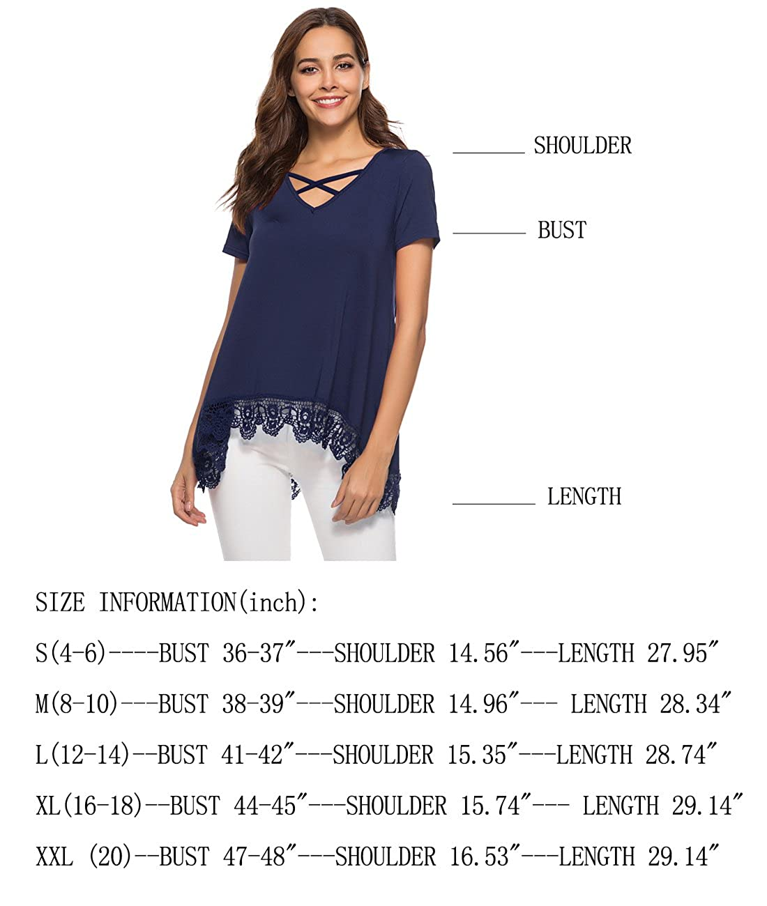 Amazon.com: DILISHA - Blusa túnica suelta de manga corta con ...