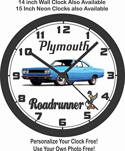 Amazon Com 1968 Plymouth Roadrunner Wall Clock Home Kitchen