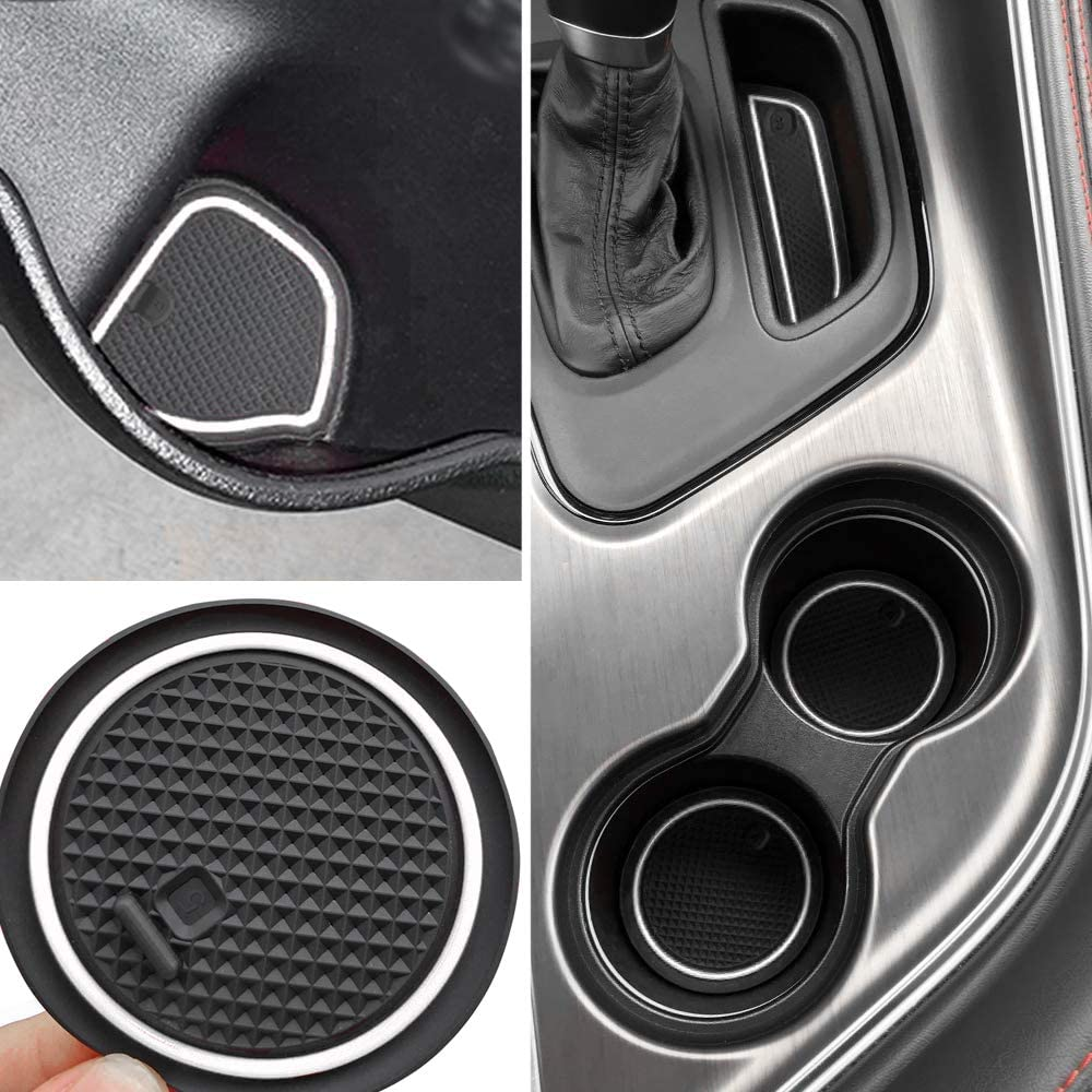 Air Conditioner Switch CD Button Knob for Dodge Challenger Cup Holder Insert 2015-2021 Dodge Challenger Interior Accessories Cup Door Pocket Liners /& Center Console Liner Mats Premium Custom Interior