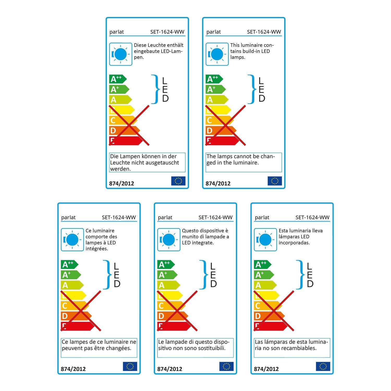Parlat LED Unterbau-Leuchte Siris, Siris, Siris, Touch-Dimmer, flach, je 50cm, 400lm, warm-weiß, 4er Set 2828b9