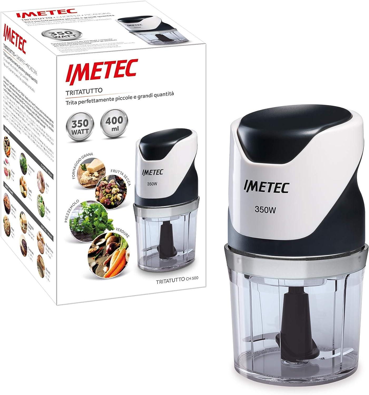 Imetec CH 500 Picadora, 350 W, Blanco y Negro