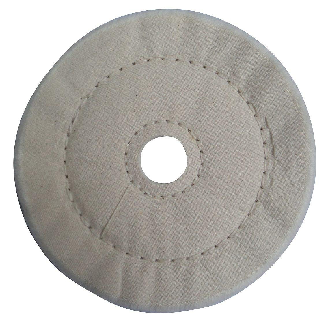 Buffing Wheel, Cushion Sewn, 10 In Dia. - 12U101 (Pack of 2)