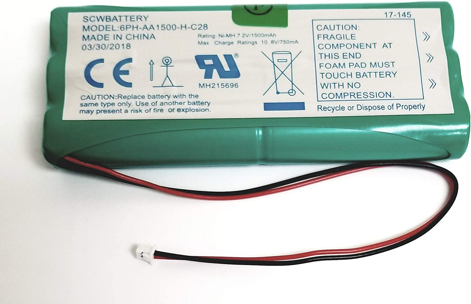 DIGITAL SECURITY CONTROLS DSC SCWBATTERY REPLACEMENT BATTERY FOR POWERSERIES 9047 SELF CONTAIN by DSC