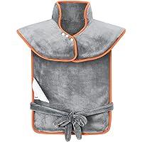 OMORC Coussin Chauffant pour Epaules et Dos Portable avec 3 Niveaux de Températures, Protection contre Surchauffe Ultra-Doux pour Relaxation et Détente du Corps (Gris)