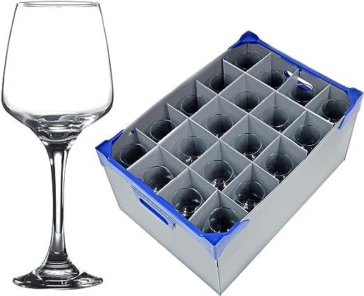 Copa de vino grande x 20 y cristalería caja de almacenaje ...
