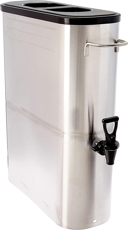 Winco SSBD-5 Stainless Steel Ice Tea Dispenser, 5-Gallon,Medium