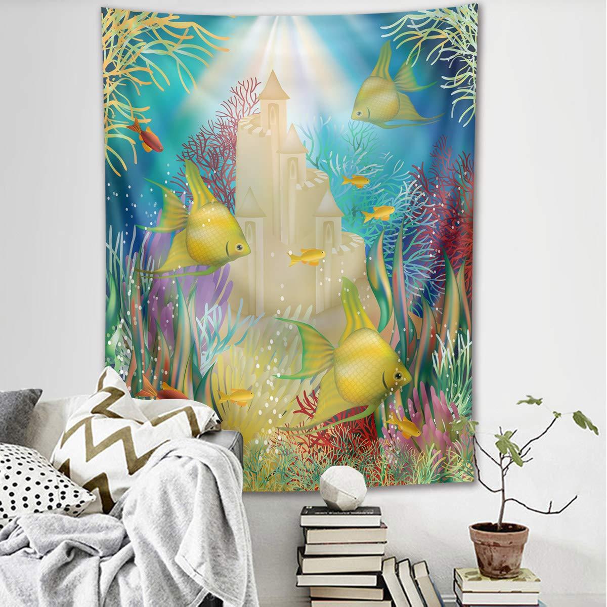LB Vierge Marie Tapisserie Murales J/ésus Tenture Tapisserie Ange au Paradis Tapisserie pour Salon Chambre Dortoir Murale D/écoration,100cm Large x 150cm Hauteur
