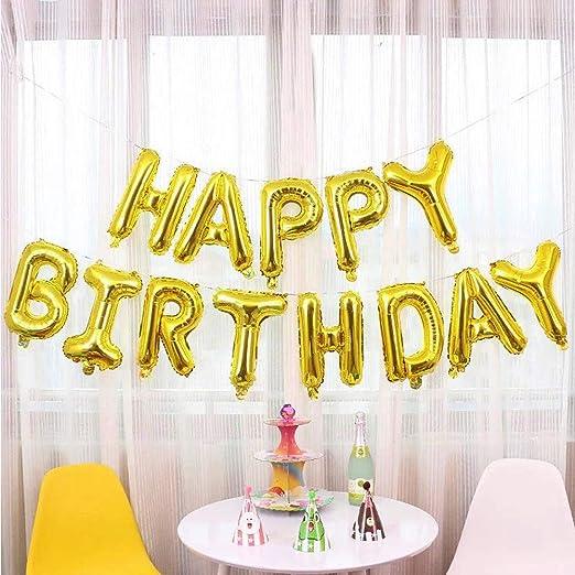 16inch/40CM Feliz cumpleaños Banner Foil Bunting Letras para ...