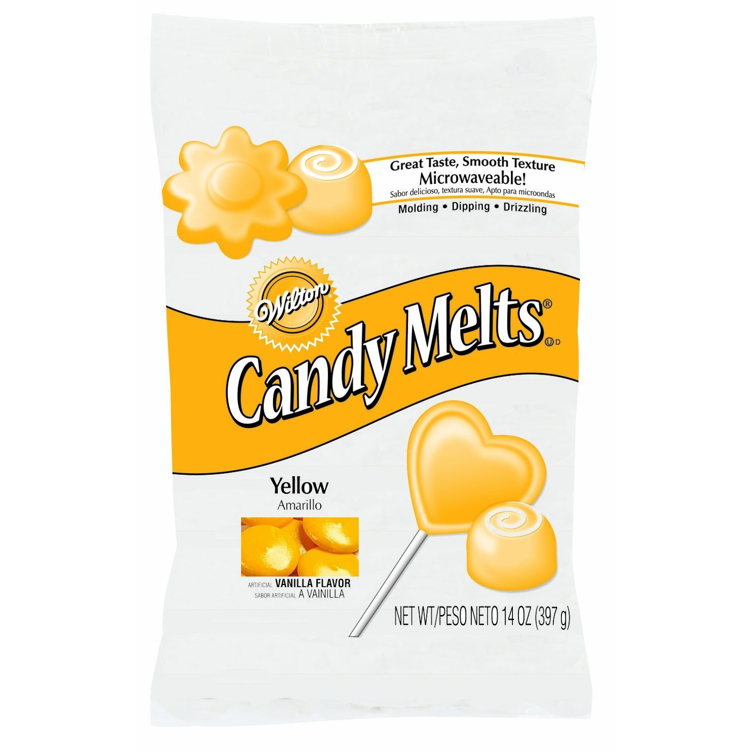 Amazon.com : 2 x Wilton 12 oz (340g) YELLOW Candy Melts ...