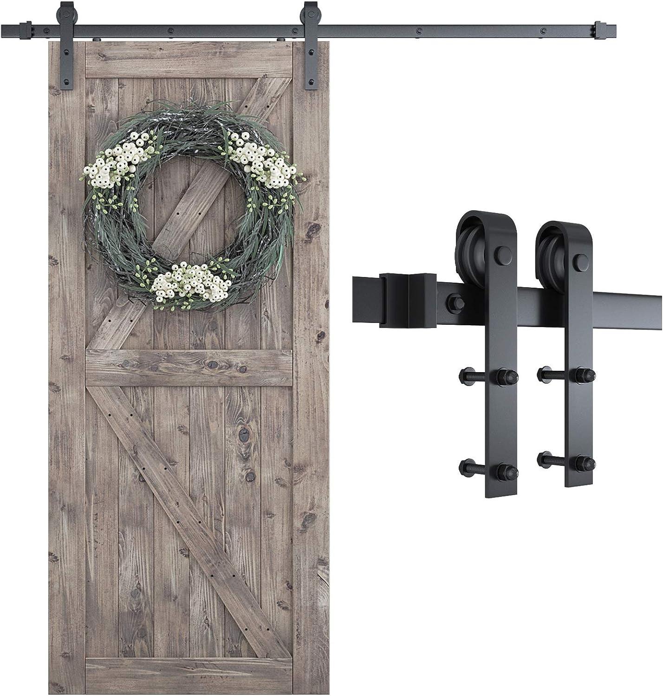 Shop One-Piece Track Sliding Barn Door Hardware Kit from Amazon on Openhaus