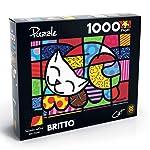 Quebra-cabeça 1.000 Peças Cat - Romero Britto, Grow, Multicor
