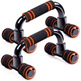 AMERIGUY Push up Pushup Bars Stands Handles Set, Push up Exercise&Fitness Equipment for Men and Women Workout