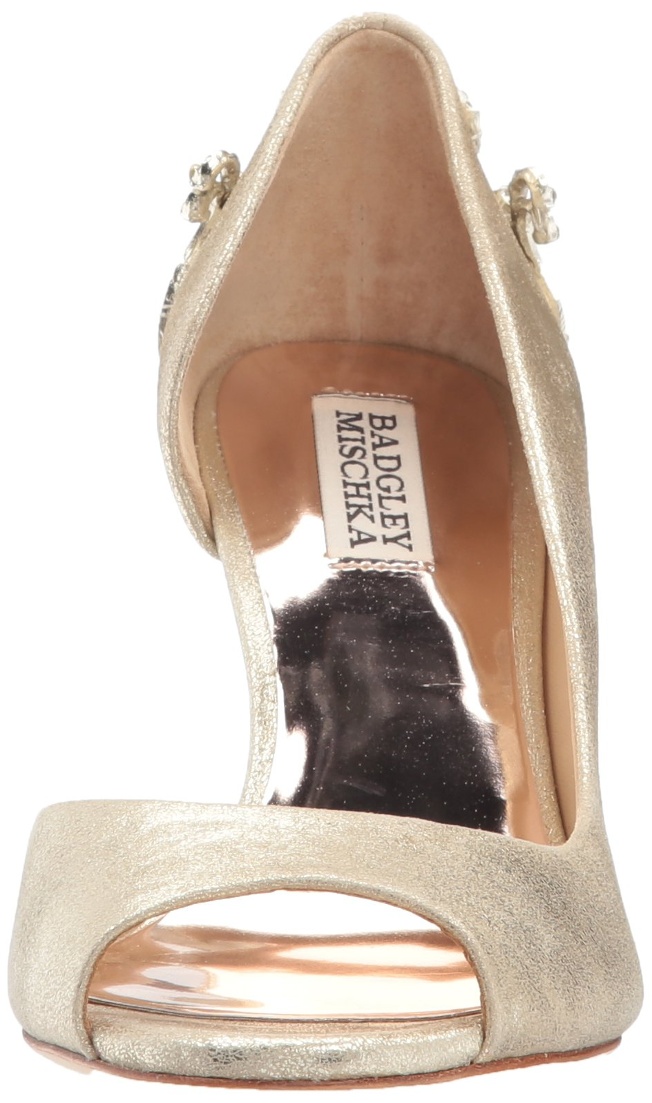Badgley Mischka Women's Meagan II Pump, platino_929, 7 M US by Badgley Mischka (Image #4)