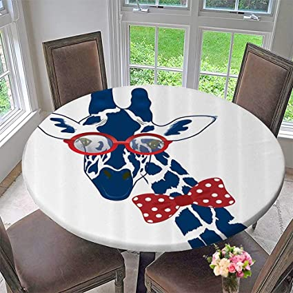 Merveilleux Mikihome The Round Table Cloth Decor Fun Whimsical Funny Giraffe Wearing  Hipster Sunglasses And Bowtie 43.5u0026quot