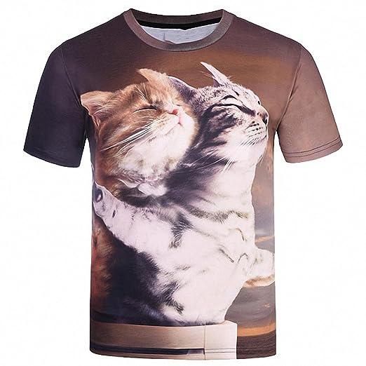 c5ad2344d Hiuwa Unisex 3D T-Shirt Tops Designed Print Titanic Cats Lovers Tees Shirts  Summer Cool