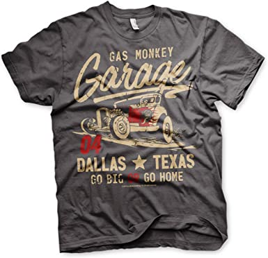 Gas Monkey Garage T-Shirt Go Big Or Go Home Darkgrey-L