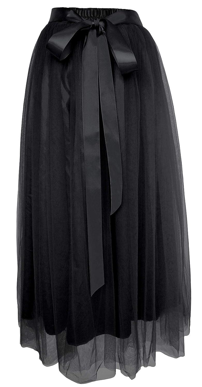 Dancina SKIRT レディース B07GBTD17K Regular (Size 2-18) ブラック ブラック Regular (Size 2-18)