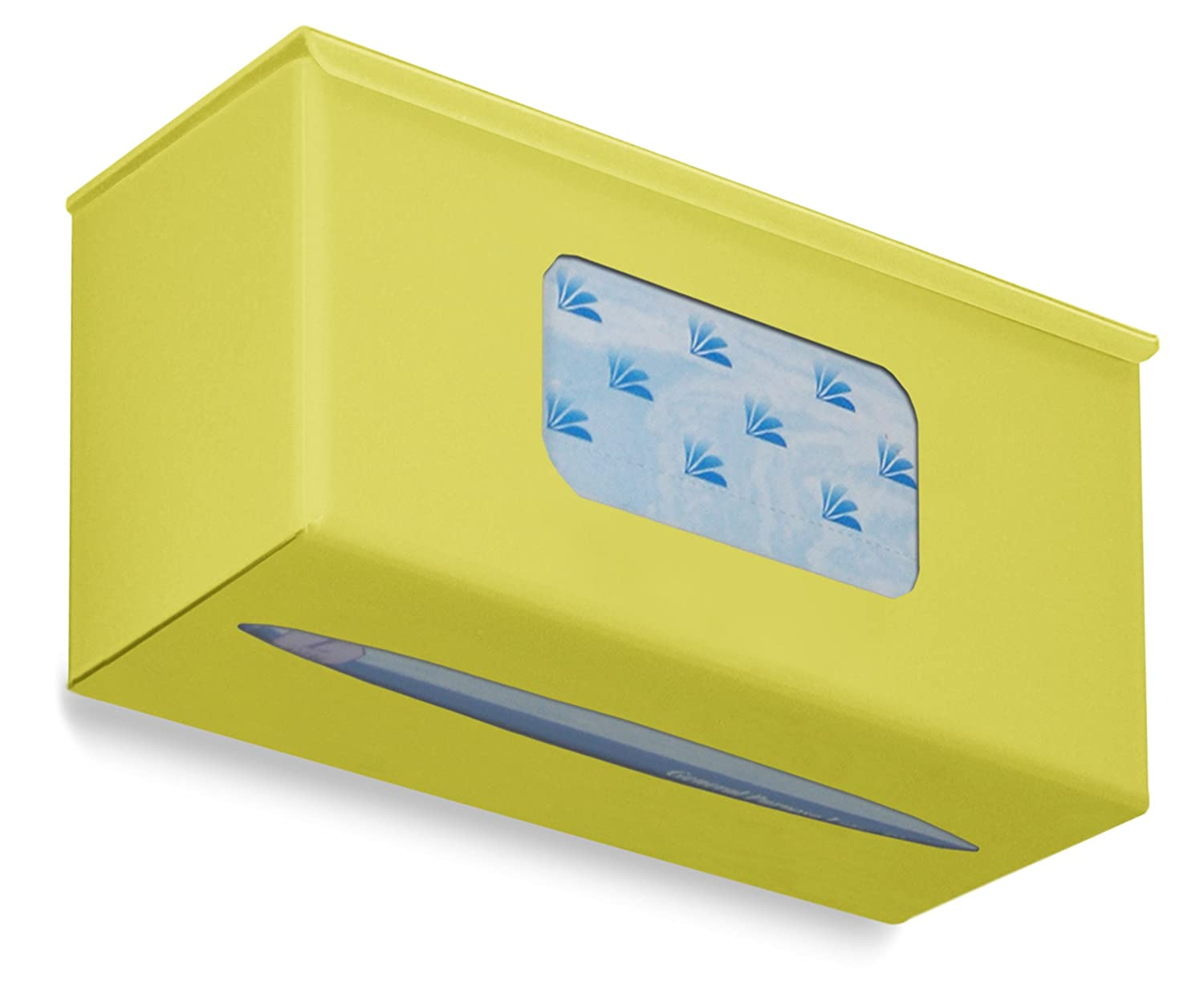 10 Width x 5 Height x 4 Depth TrippNT 52049  Ultimate Plain Single Bright Idea Yellow Dual Dispensing Glove Holder