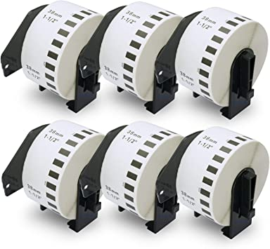 1 Endlosetikett DK Label f/ür Ptouch QL570 Endlosrolle 38mm P-Touch QL 570 Brother Etiketten 38 mm x 30 48 meter Papier