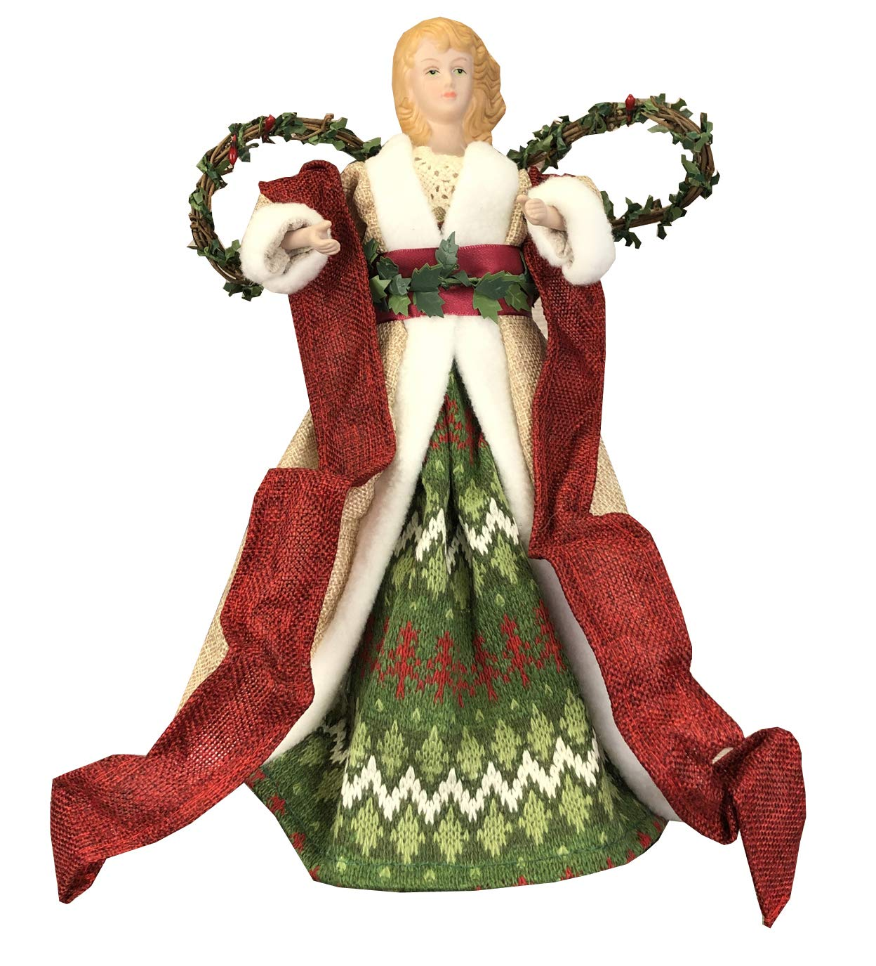 Selections Christmas Angel Tree Topper Decoration Ornament 31cm Tall