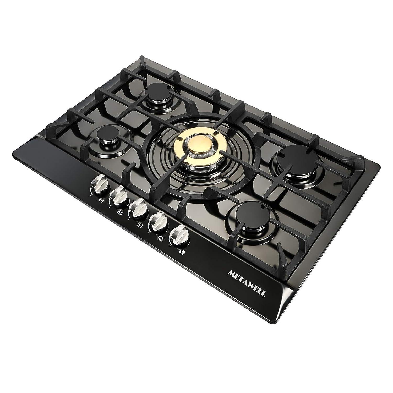 Amazoncom Metawell 30 Black Titanium Plated Stainless Steel 5