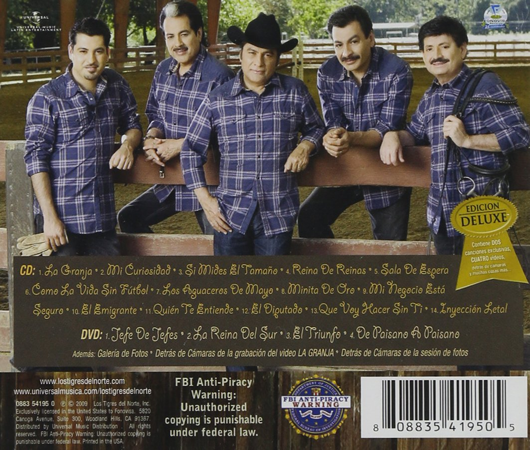 Los Tigres Del Norte - La Granja [CD/DVD Combo] [Deluxe Edition] - Amazon.com Music