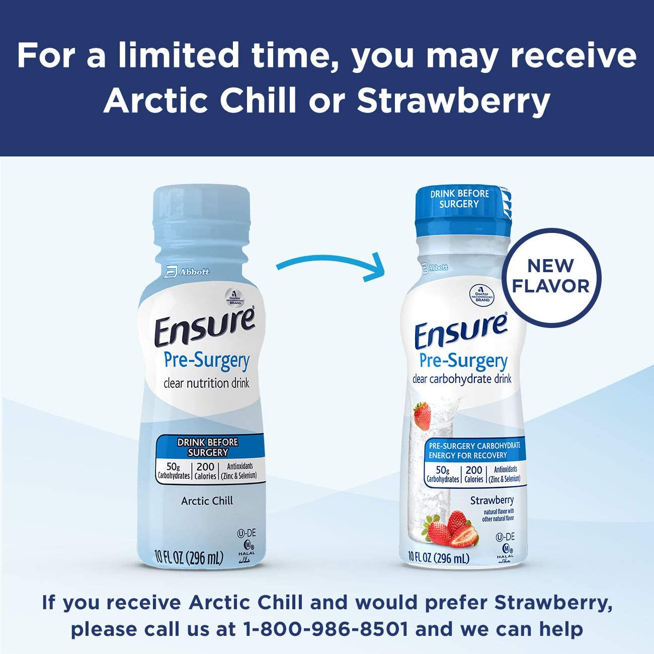 Ensure Pre-Surgery, Clear Carbohydrate Drink, Strawberry, 10 Fl Oz, 4Count