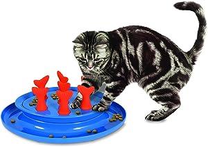 Petmate Jackson Galaxy Go Fish Slow Feeder Puzzle Bowl, Model:31968