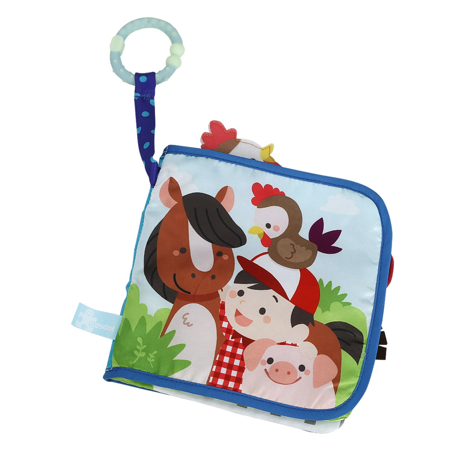 Labebe Baby Book, Farm Animal Activity Book, Cloth Toy Story Book for Baby Aged 3-24 Month, Baby First Book/Soft Book/Cloth Book/Toy Book/Fabric Book/Learning Book/Peekaboo Book/Toddler Activity Book