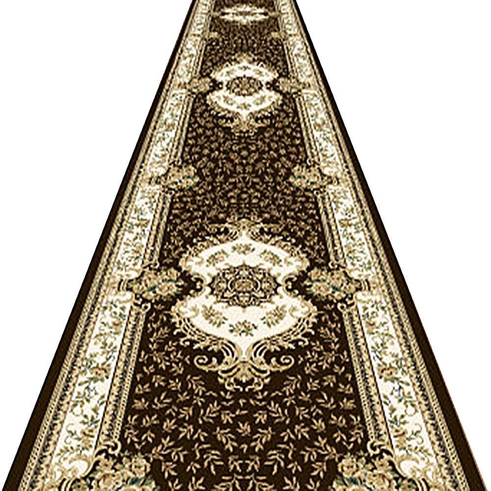 KKCF 廊下のカーペット3Dパターン滑り止め洗える消えないでポリエステル褐色 、長さはカスタマイズすることができます (サイズ さいず : 1.4x7m) B07Q1H9X26  1.4x7m