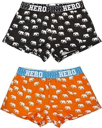 keephen Calzoncillos Boxer para Hombres, Bragas de impresión 100% algodón Elefante de Dibujos Animados: Amazon.es: Ropa y accesorios