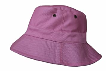 d2ace942b6 Amazon.com   Light Pink Bucket Hat Cap Boonie Cotton Fishing Hunting Safari  Sun Men Women Brim   Baby