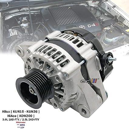 100A Alternator For Toyota Hilux VIGO D4D KUN16 KUN26 1KD-FTV 2KD-FTV 2005
