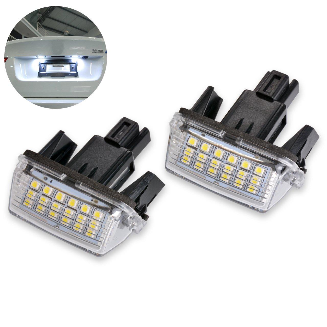 ngcat 1/par 3528/18SMD blanco 6000/K LED licencia n/úmero placa l/ámparas de luz para Camry Yarisl//EZ//VIOS//Corolla//Levin