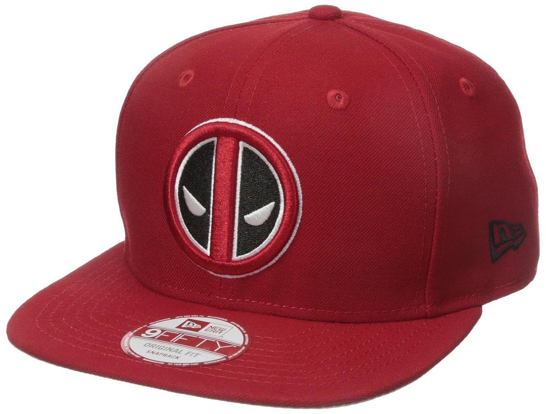 947a0265a New Era Cap Men's Block Back Deadpool 9Fifty Snapback Cap, Red, One ...