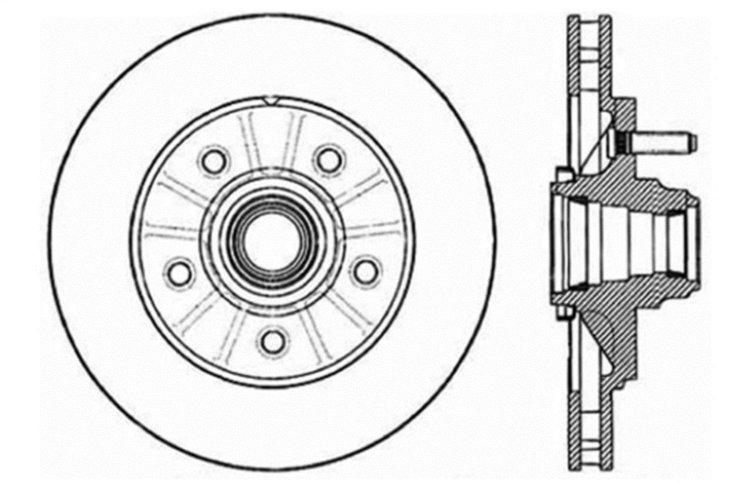 1 Pack Front Right StopTech 127.65081R Sport Drilled//Slotted Brake Rotor