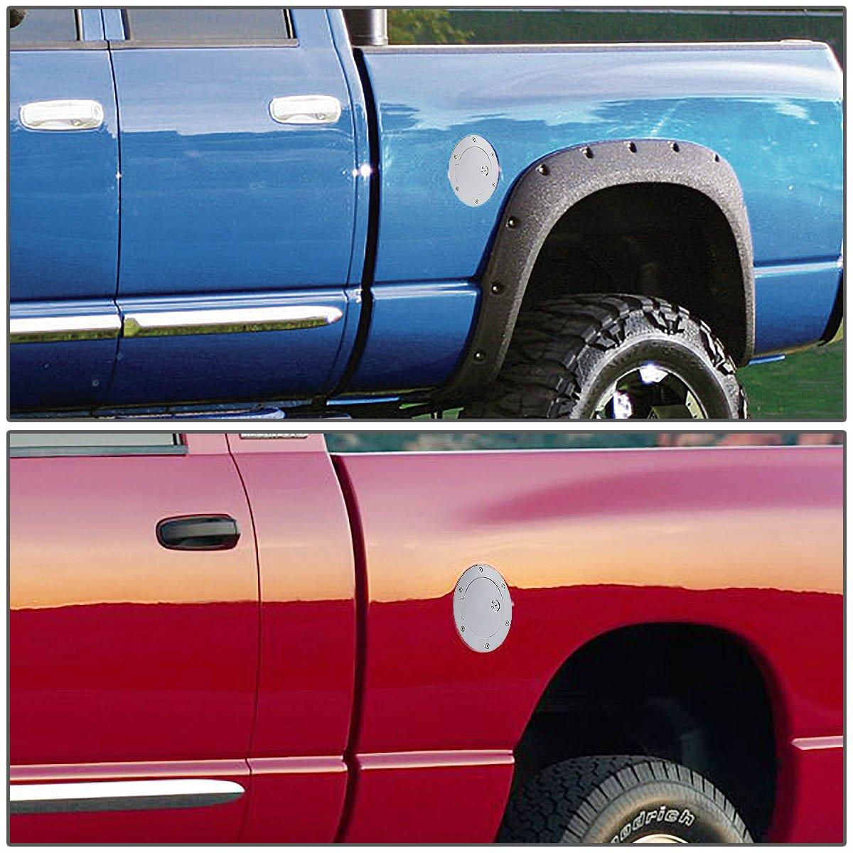 For 09-16 Dodge Ram 1500//2500//3500 DNA Motoring GD-K303-CH Fuel Gas Tank Door