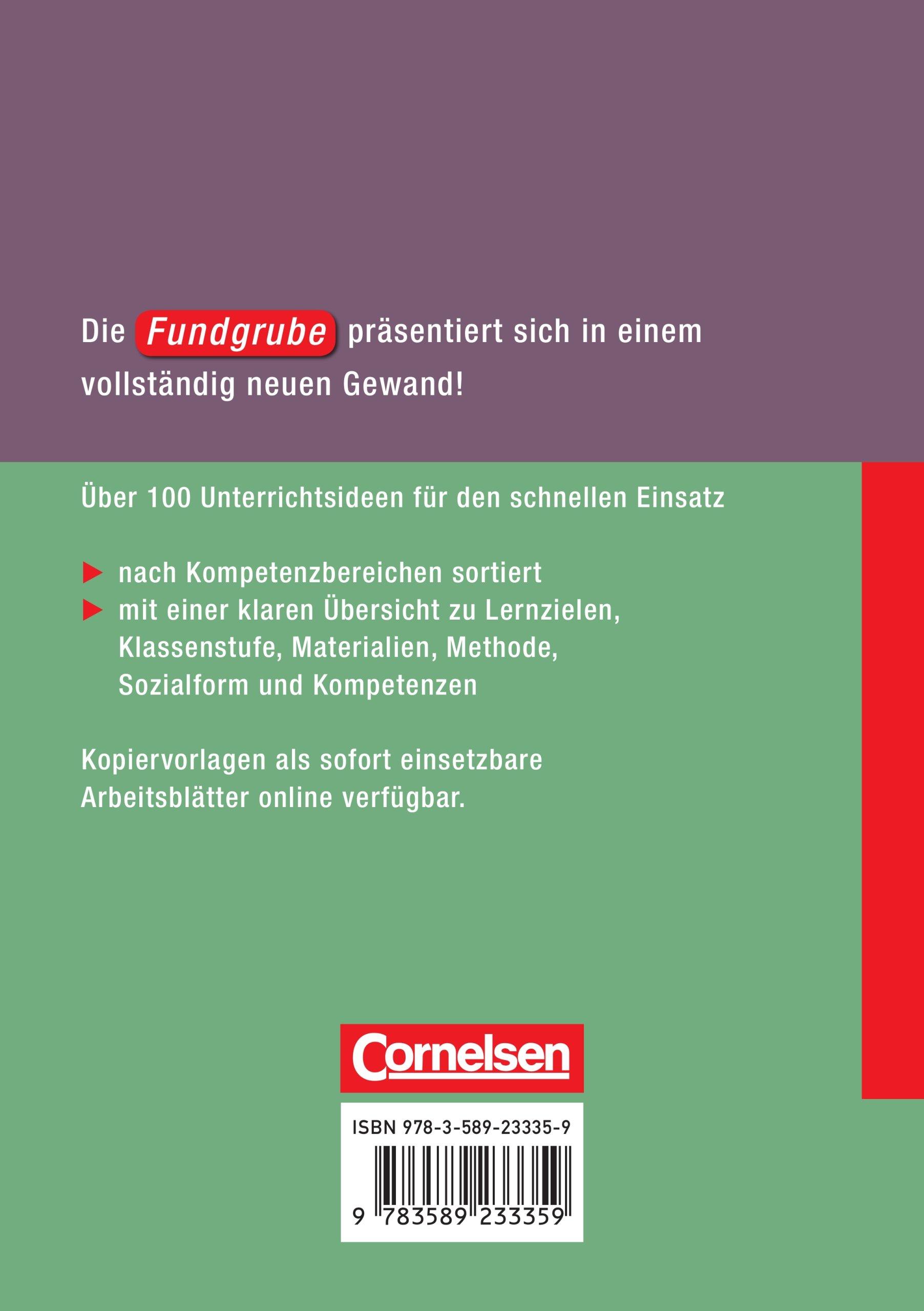 Fundgrube - Sekundarstufe I: Fundgrube Deutsch - Neue Ausgabe: Buch ...