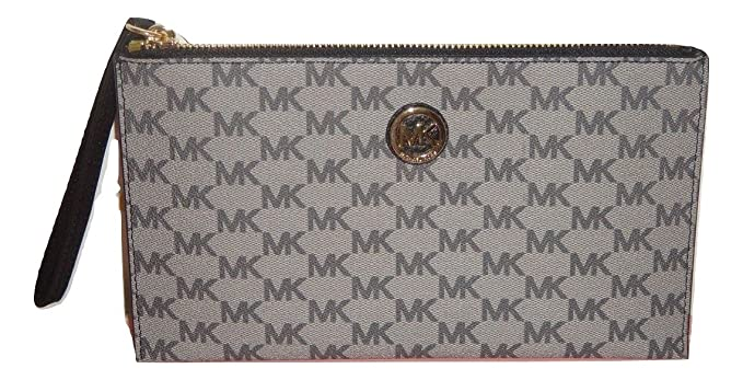 6f37de8687cd Image Unavailable. Image not available for. Color: Michael Kors Women Mk  Signature Fulton Zip Clutch Wristlet ...