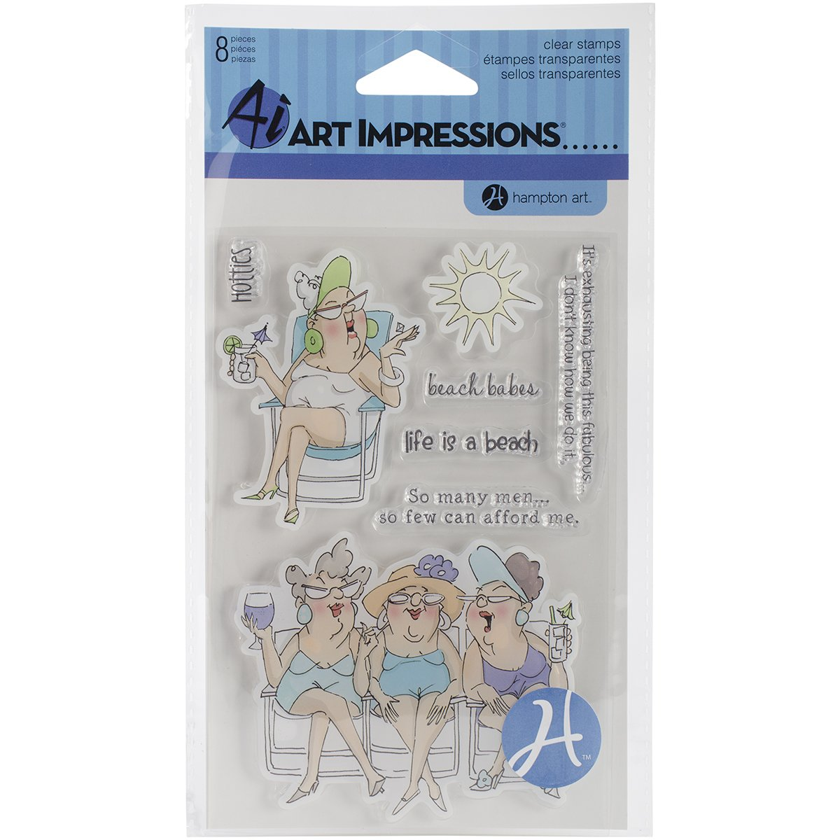 Hampton Art Art Impressions Clear Stamps, 4 by 8-Inch, More Candles SC0653