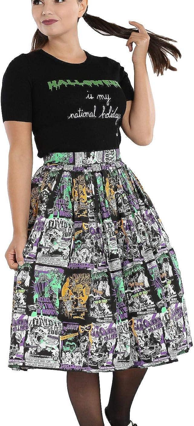 Hell Bunny Be Afraid Bluse B-Movie Hemd Alternative Top Halloween