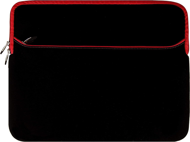 Laptop Cover Case Sleeve for HP EliteBook 850 840 G7 G6 G5, x360 1040 1030 830 G7 G6 G3, ProBook 650 640 450 G7 (Black Red)