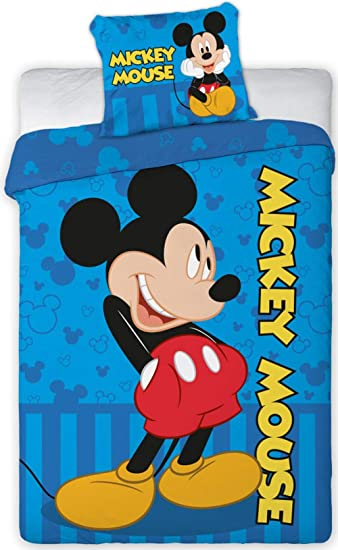 Disney 066 Micky Maus Baby Wende Bettwäsche Set 100 X 135cm Amazon