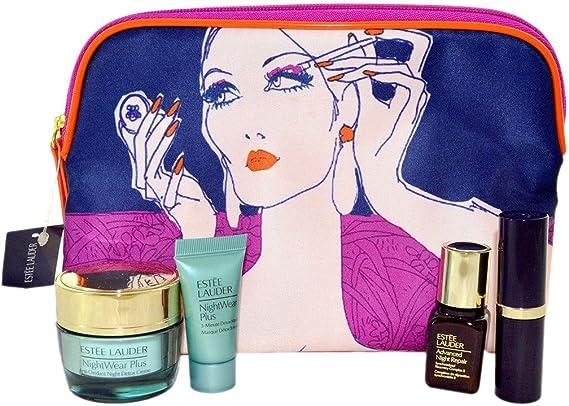 Estee Lauder 4 piezas Juego de para el cuidado de la piel con bolsa de cosméticos: Amazon.es: Belleza