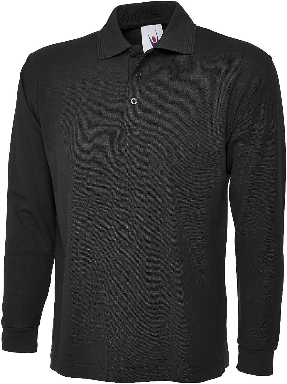Uneek Clothing - Camiseta de polo de manga larga para hombre, de ...