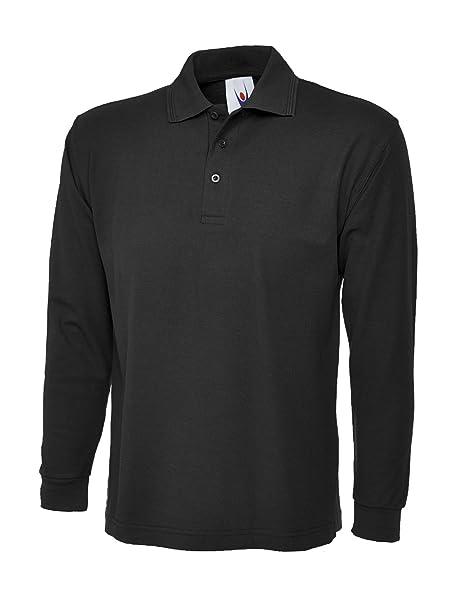 45026c357d Manga Larga Camisa Polo Simple Ocio Casual Ropa De Trabajo Reforzado Cuello  UC113  Amazon.es  Ropa y accesorios