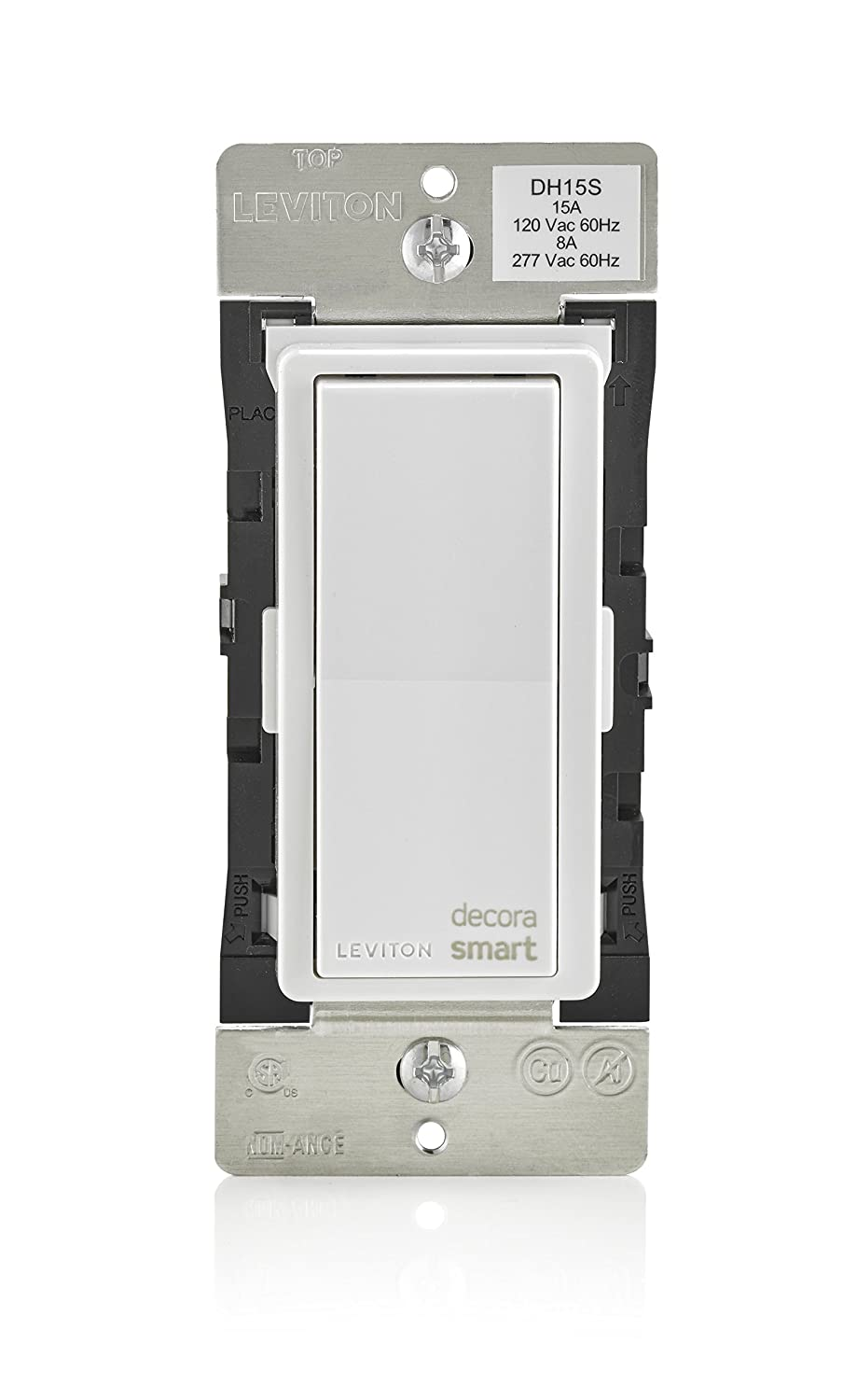 Leviton DH15S-1BZ 15A Decora Smart Switch, Works with Apple ...