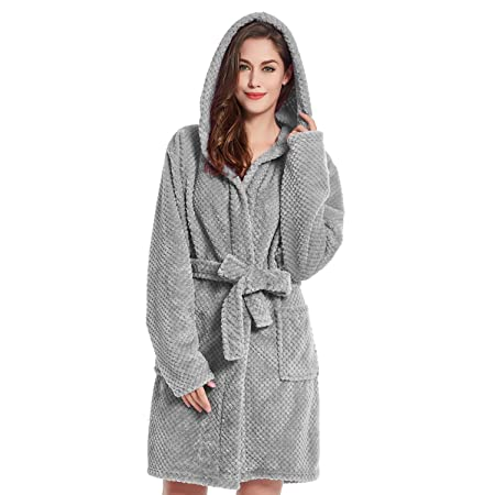 Bathrobe XXL Short Women Men Unisex Hooded Dressing Gown Microfibre Soft  Snug Cosy Fleece Grey Steel Sleepyhead  Amazon.co.uk  Kitchen   Home b5e48cbc5